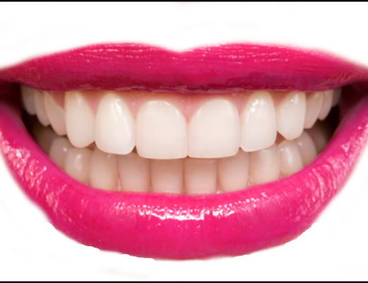 smile with white healthy teeth