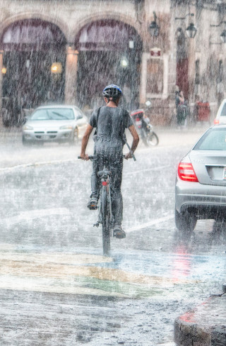 Rainstorm In City