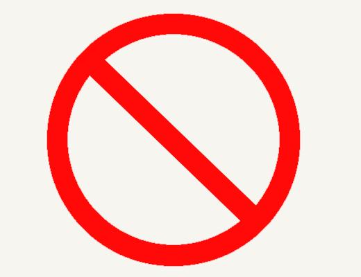 the NO symbol