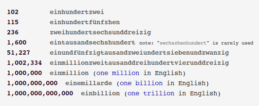 Really large German numbers